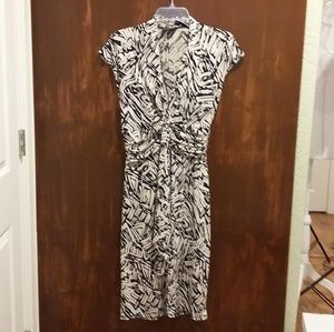 BCBG Black Off White Zebra Print Dress